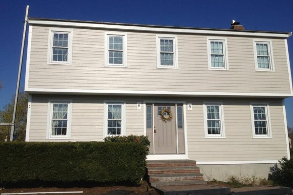 New James Hardie Siding on Little MA House