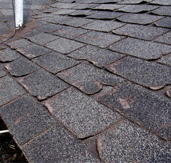 Old Shingles on Roof