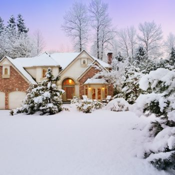 House during winter