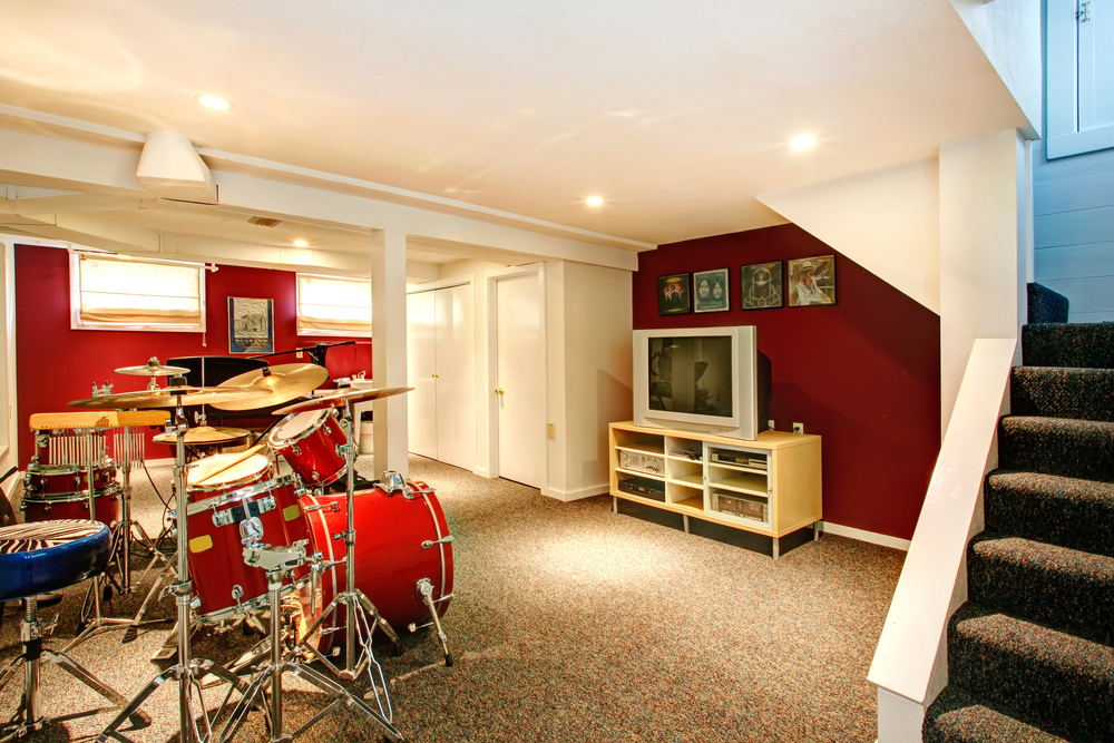 Basement Music Room
